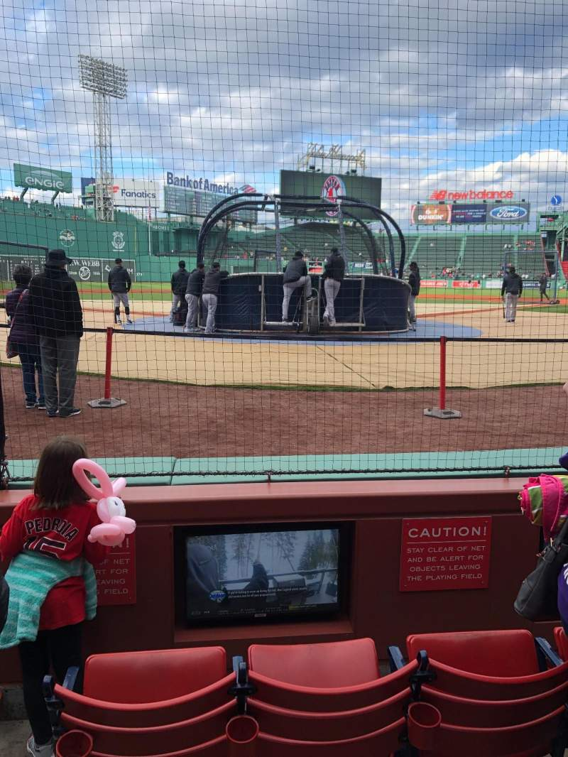 Seating view for Fenway Park Section Field Box 45 Row A Seat 3