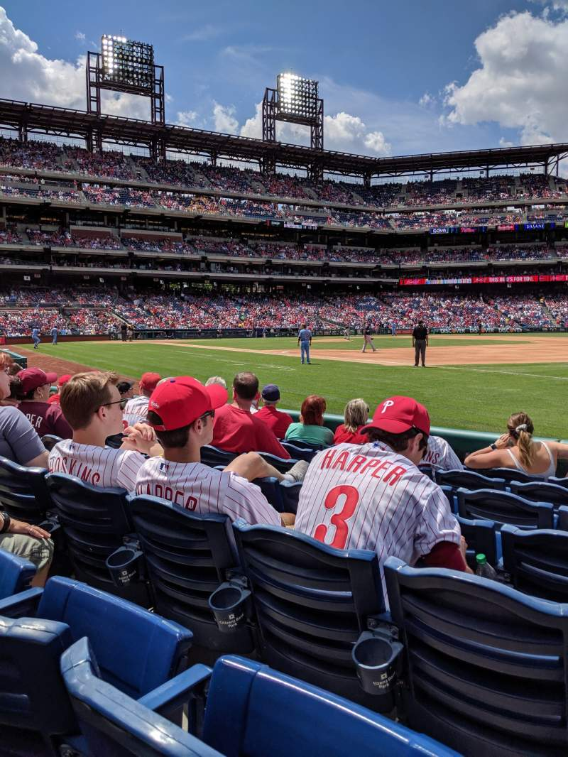 Seating view for Citizens Bank park Section 112 Row 7 Seat 10
