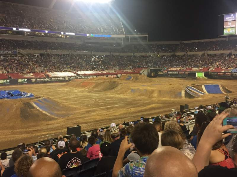 Seating view for Camping World Stadium Section 137 Row V Seat 18