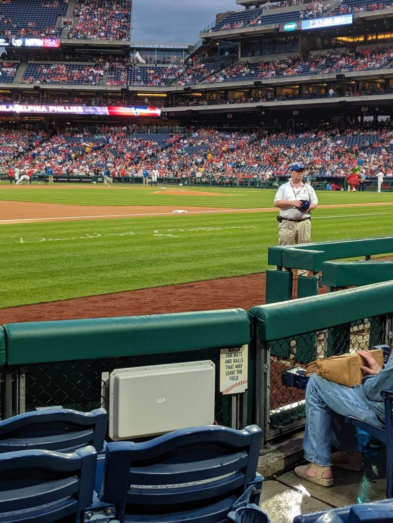 Seating view for Citizens Bank park Section 134 Row 5 Seat 4