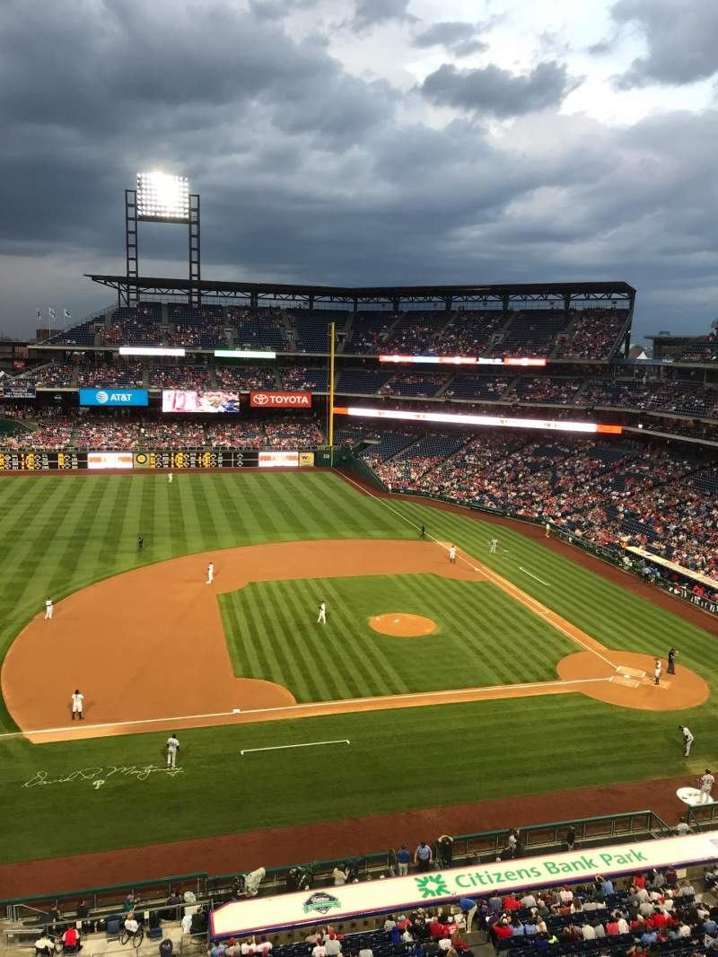 Seating view for Citizens Bank Park Section 327 Row 1 Seat 1