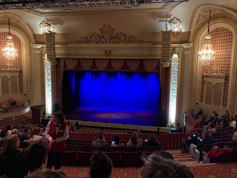 Seating view for Genesee Theatre Section Mezzanine Center Row M Seat 201