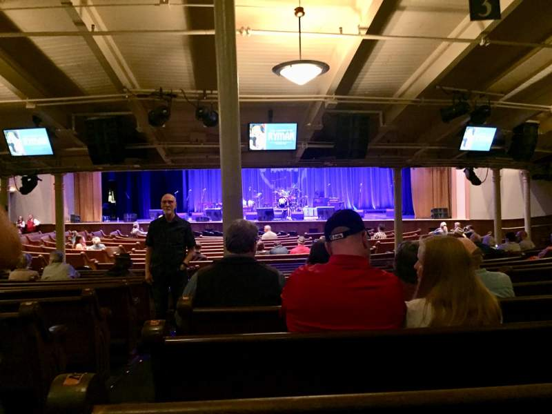 Seating view for Ryman Auditorium Section MF-3 Row Y Seat 15