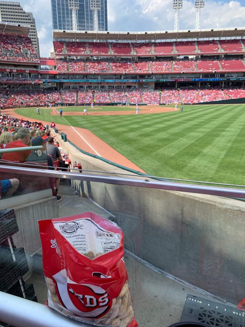 Seating view for Great American Ball Park Section 139 Row X Seat 1