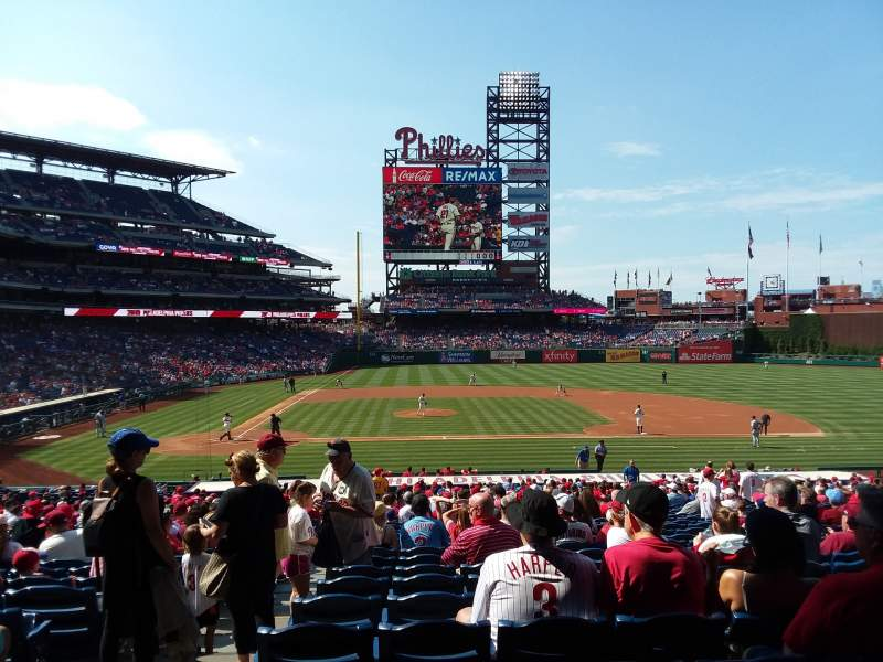 Seating view for Citizens Bank Park Section 117 Row 33 Seat 17