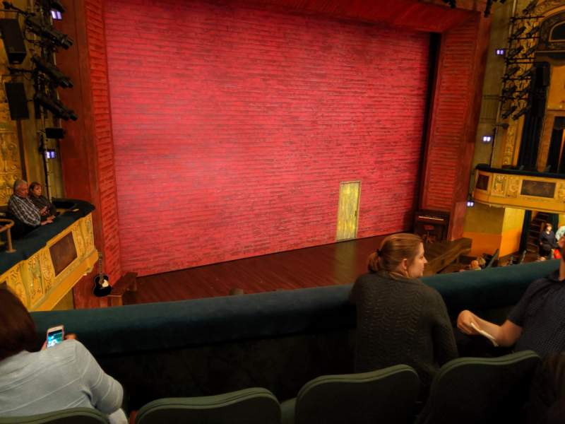 Seating view for Shubert Theatre Section Mezzanine L Row C Seat 13