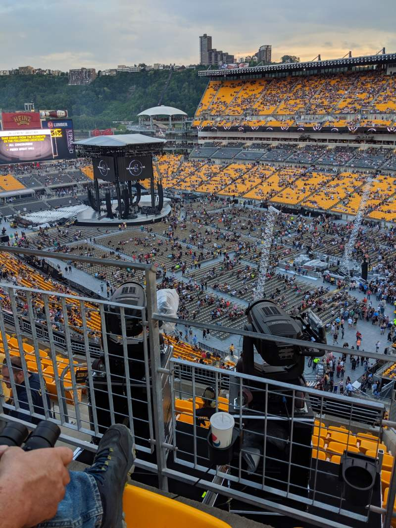 Seating view for Heinz Field Section 527 Row G Seat 4
