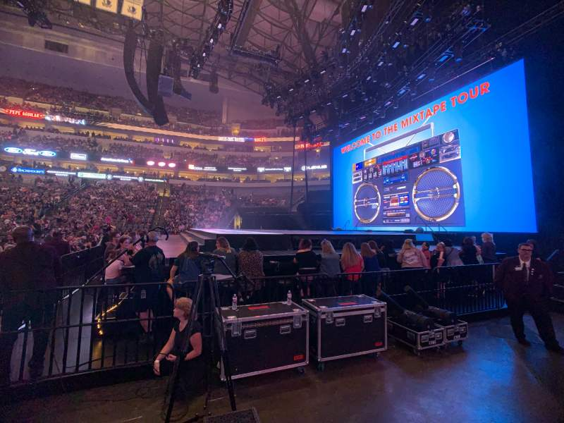 Seating view for American Airlines Center Section 104 Row A Seat 6