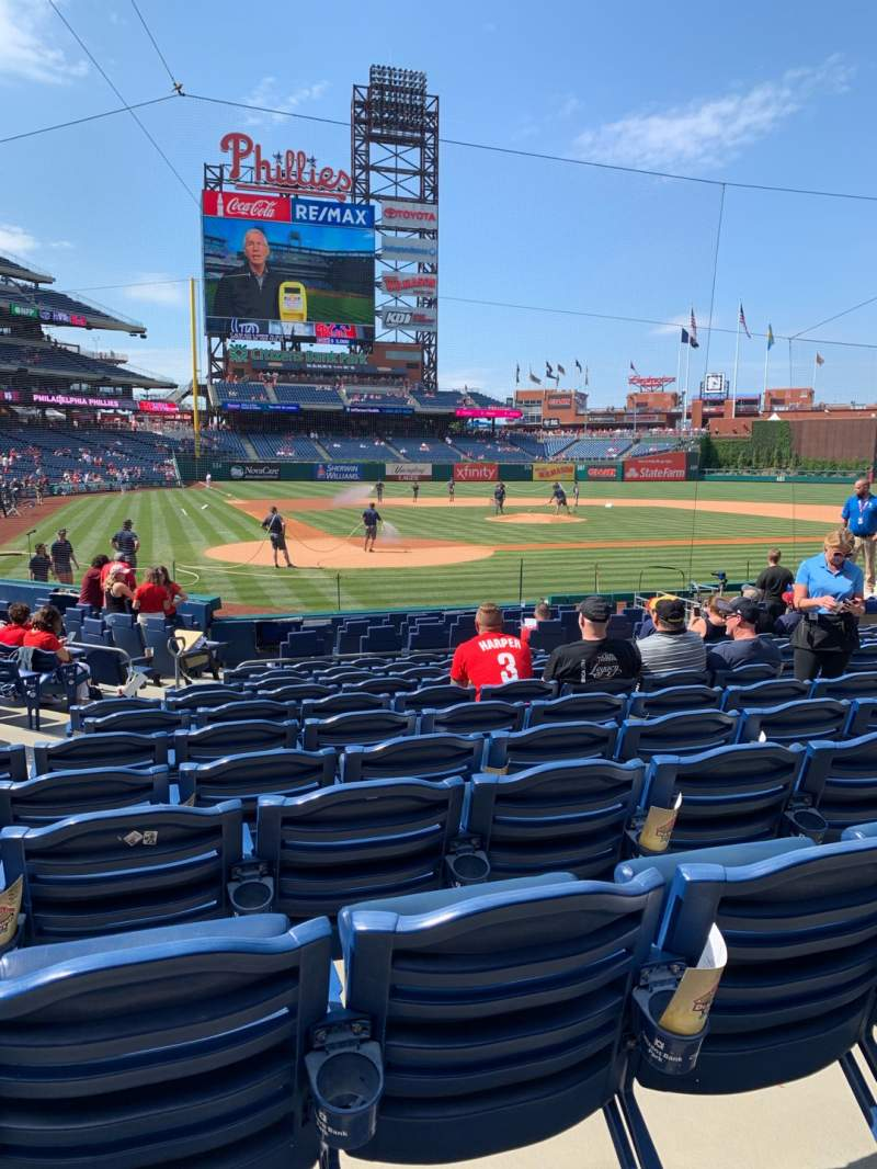 Seating view for Citizens Bank Park Section F Row 15 Seat 8