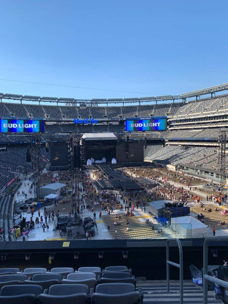 Seating view for MetLife Stadium Section 229 Row 6 Seat 1