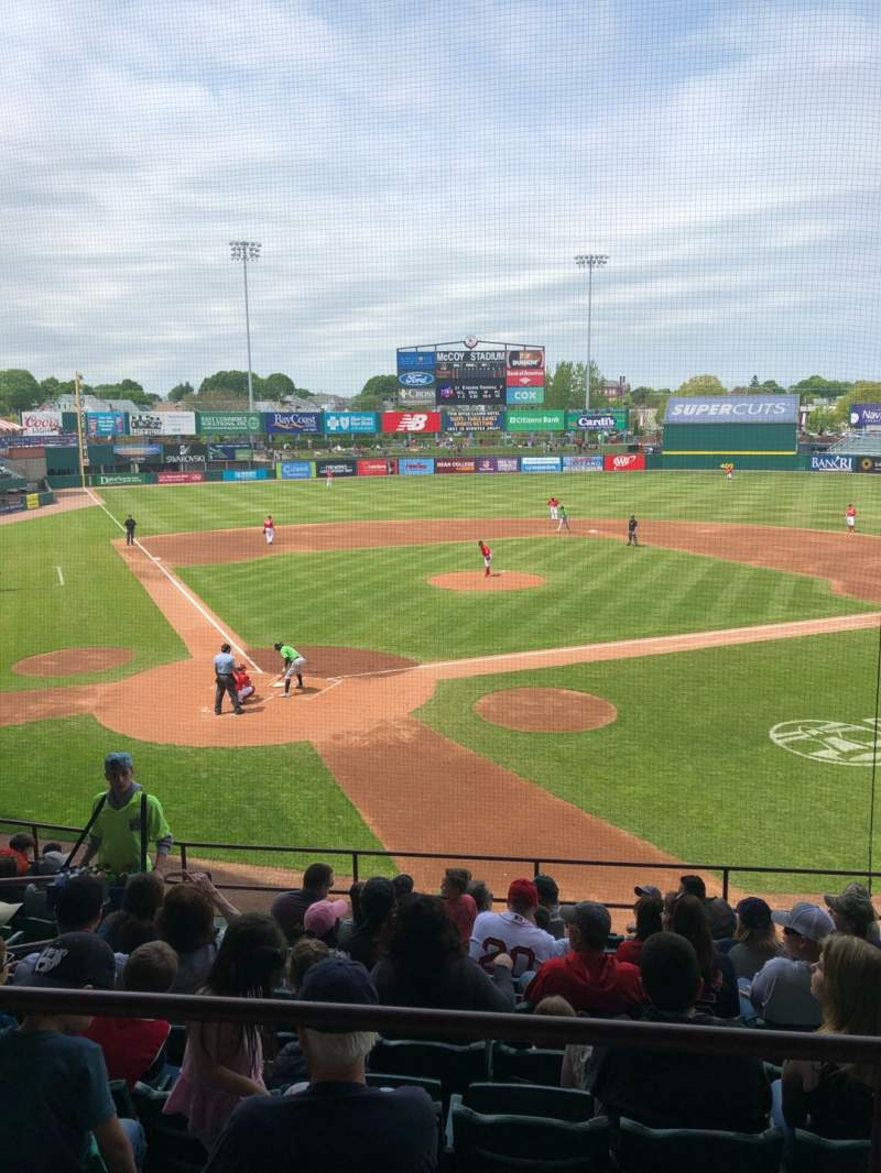 Seating view for McCoy Stadium Section 5 Row AA Seat 10