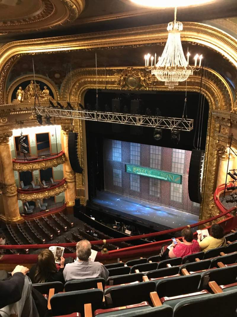 Seating view for Emerson Colonial Theatre Section Balcony Row G Seat 22