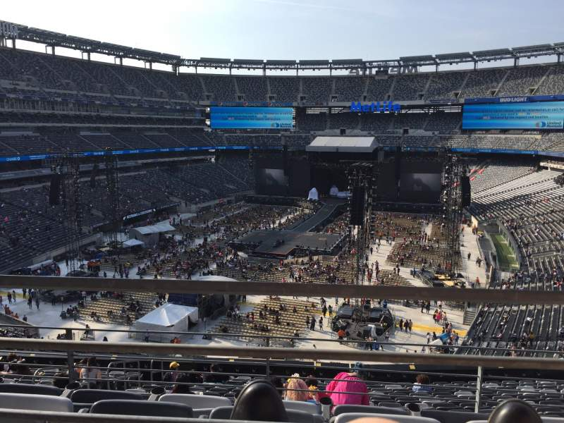 Seating view for MetLife Stadium Section 224b Row 1 Seat 2