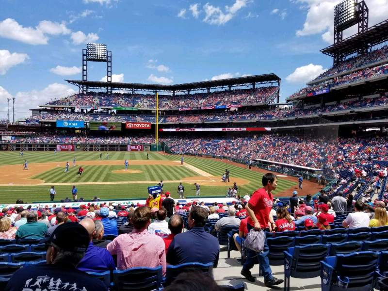 Seating view for Citizens Bank Park Section 130 Row 28 Seat 2