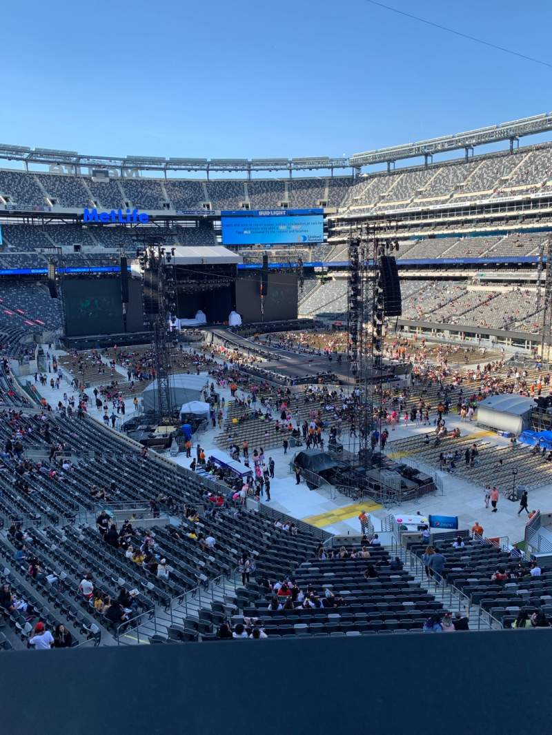 Seating view for MetLife Stadium Section 231A Row 1 Seat 8