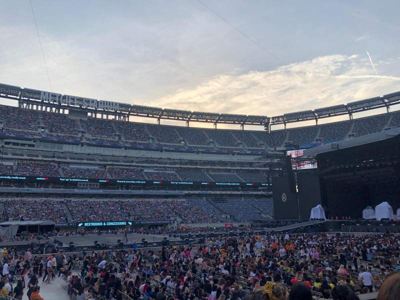 Seating view for MetLife Stadium Section 115c Row 4 Seat 7