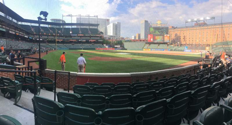 Seating view for Oriole Park at Camden Yards Section 34 Row 6 Seat 11