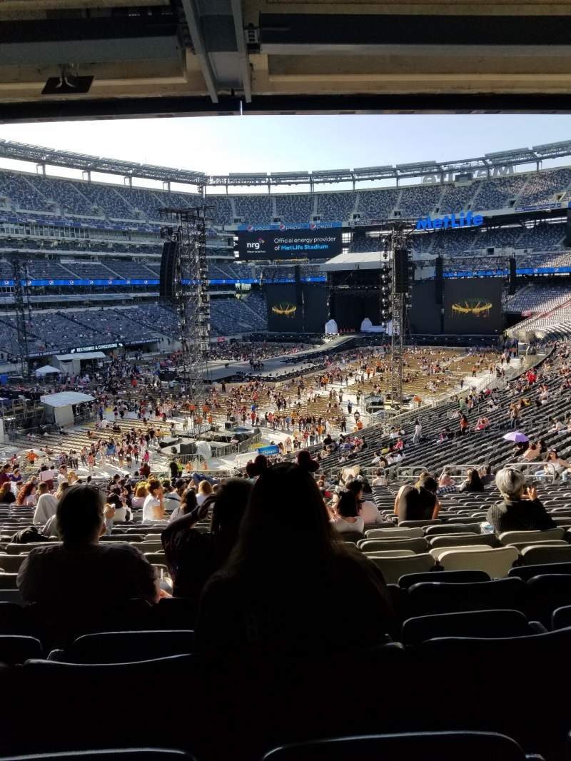 Seating view for MetLife Stadium Section 121 Row 45 Seat 13