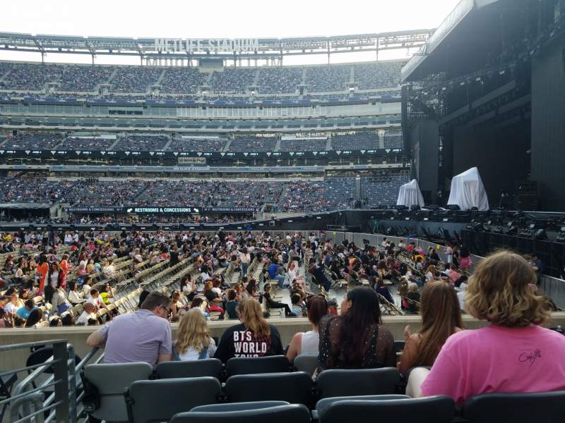 Seating view for Metlife Stadium  Section 111A Row 6 Seat 12