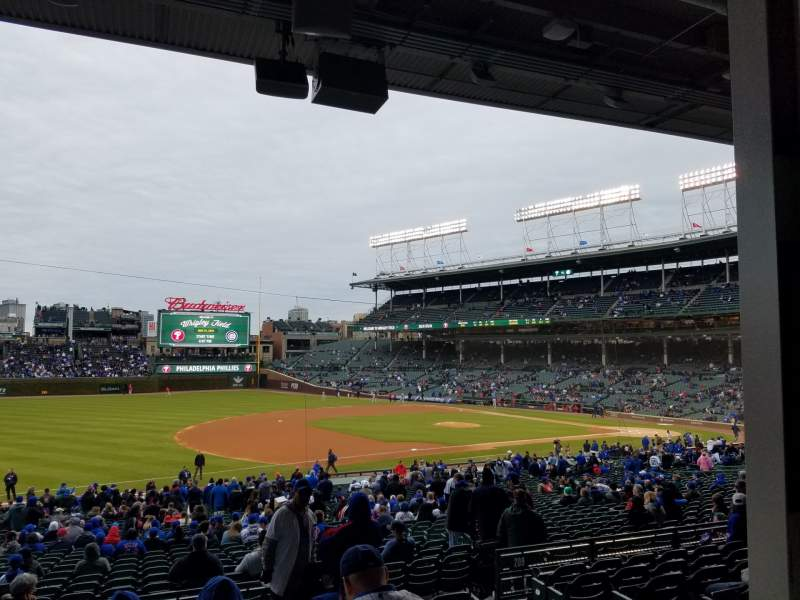 Seating view for Wrigley Field Section 208 Row 8 Seat 17