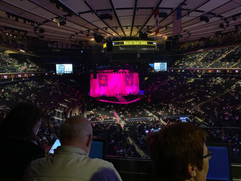 Seating view for Madison Square Garden Section 203 Row 2 Seat 7