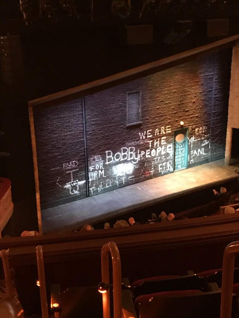Seating view for Bernard B. Jacobs Theatre Section Mezzanine L Row J Seat 25