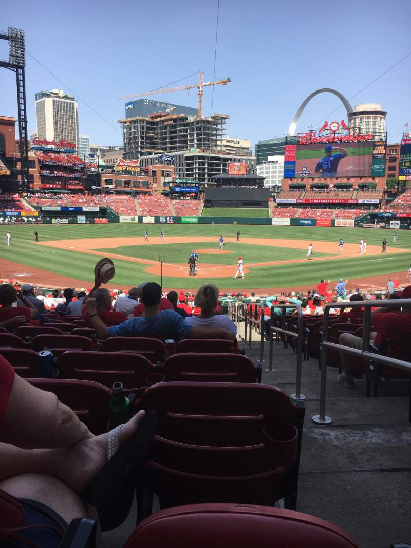 Seating view for Busch Stadium Section 150 Row 20 Seat 1