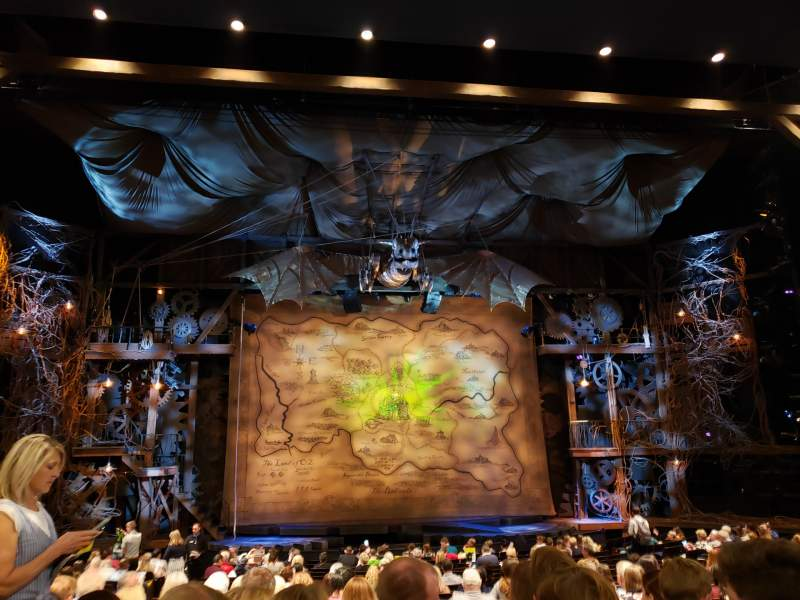 Seating view for Gershwin Theatre Section Orchestra C Row R Seat 105