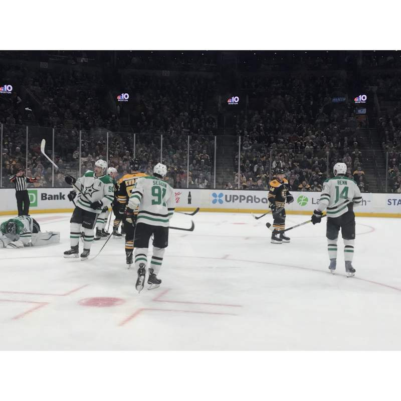 Seating view for TD Garden Section 14 Row 2 Seat 3