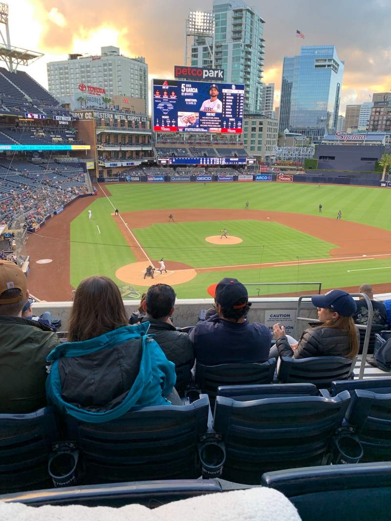 Seating view for PETCO Park Section 201 Row 7 Seat 15-18
