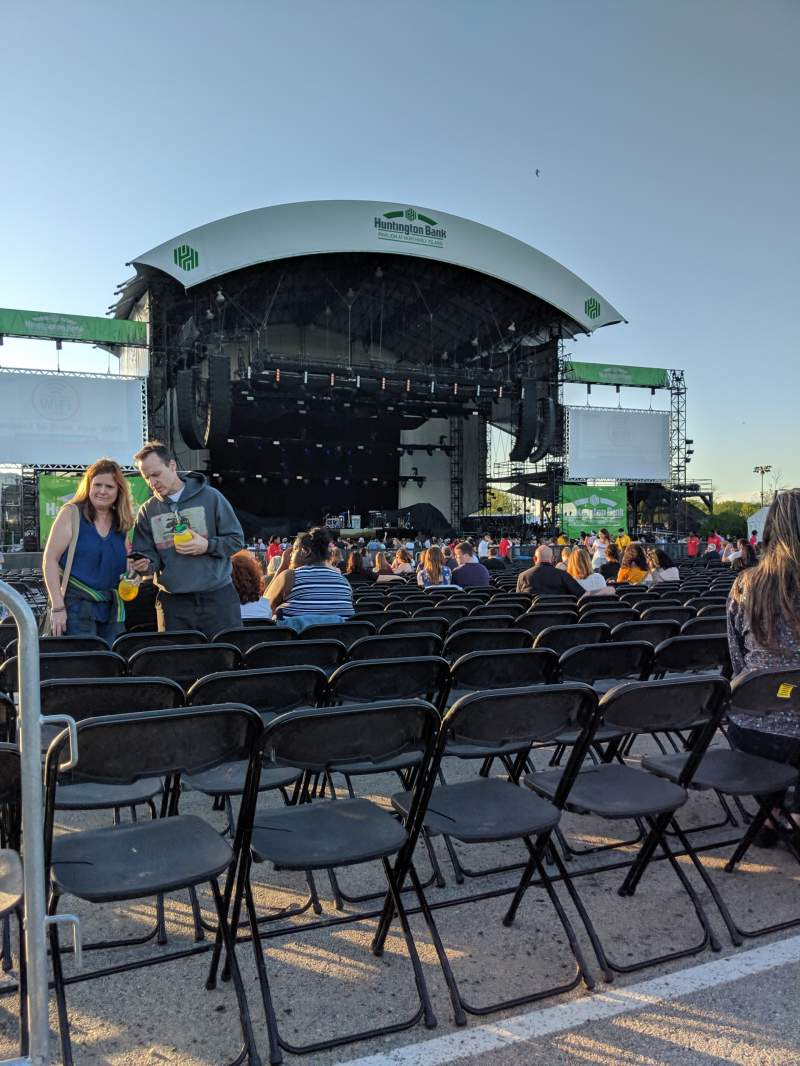 Seating view for Huntington Bank Pavilion at Northerly Island Section 308 Row A Seat 25