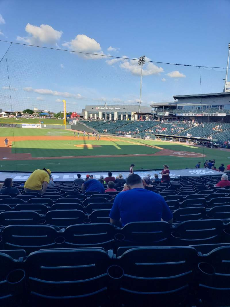 Seating view for Dell Diamond Section 115 Row 21 Seat 10