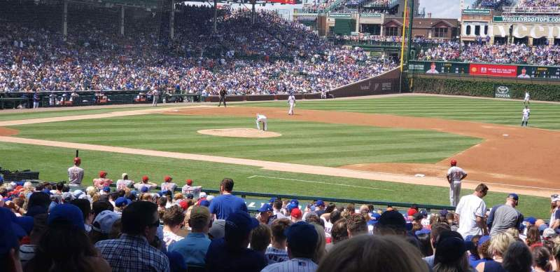 Seating view for Wrigley Field Section 125 Row 15 Seat 13