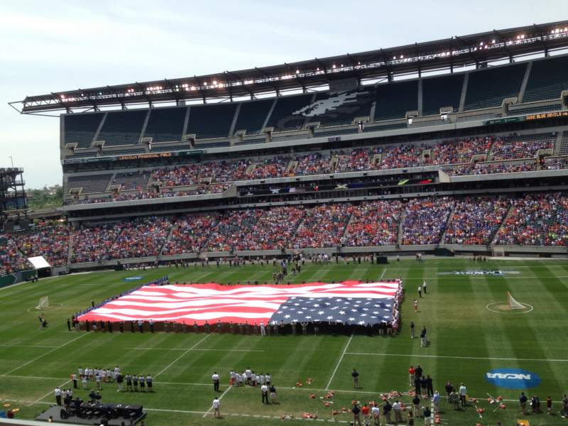 Seating view for Lincoln Financial Field Section C23 Row 16 Seat 20