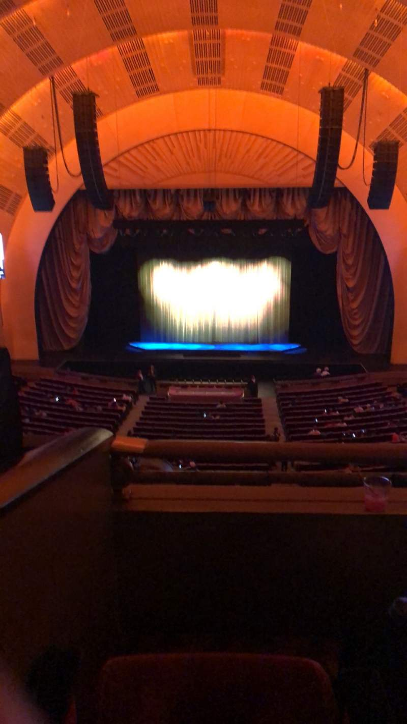 Seating view for Radio City Music Hall Section 2ND Mezzanine 4 Row B Seat 403