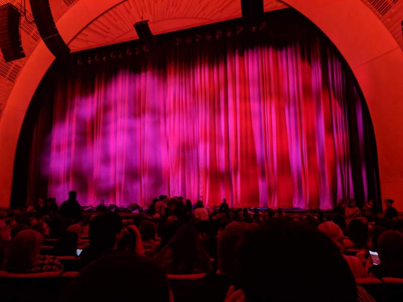 Seating view for Radio City Music Hall Section Orchestra 3 Row QQ Seat 304