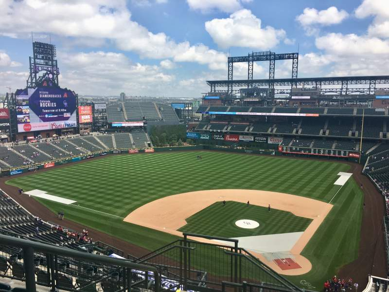 Seating view for Coors Field Section U333 Row 14 Seat 17