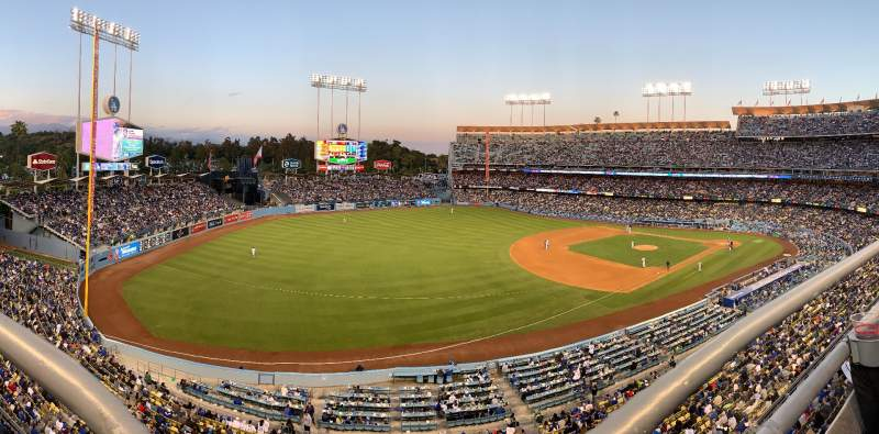 Seating view for Dodger Stadium Section 35RS Row A Seat 16