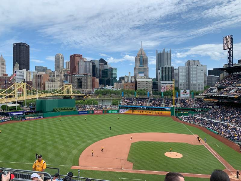 Seating view for PNC Park Section 222 Row J Seat 10