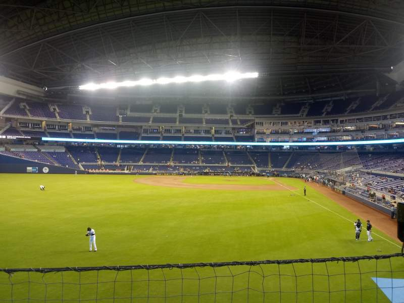 Seating view for Marlins Park Section 30 Row 1  Seat 16