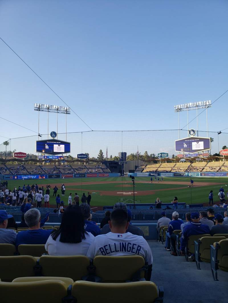 Seating view for Dodger Stadium Section 1FD Row N Seat 1