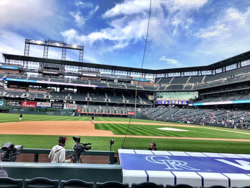Seating view for Coors Field Section 139 Row 8 Seat 5