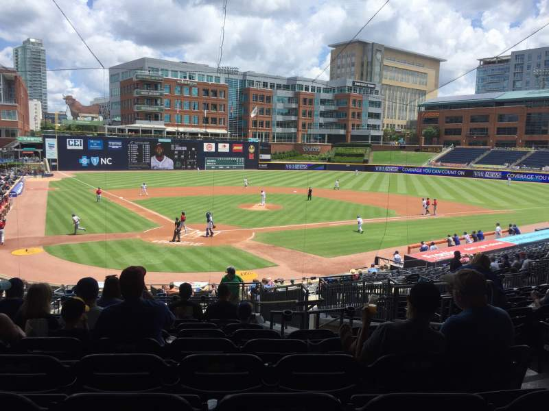 Seating view for Durham Bulls Athletic Park Section 202 Row W Seat 17