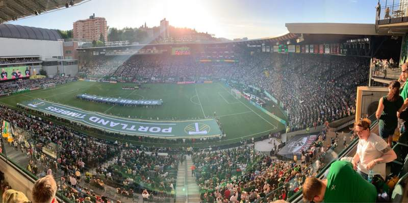 Seating view for Providence Park Section ET8 Row B Seat 3