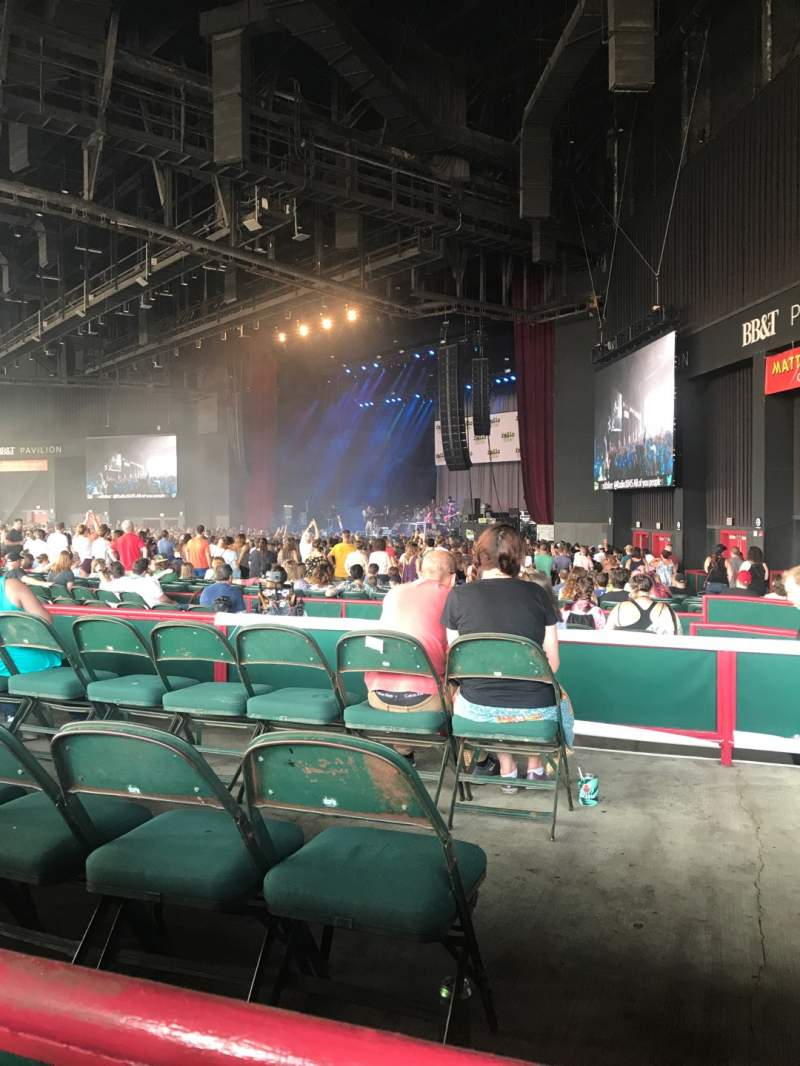 Seating view for BB&T Pavilion Section 200 Row C Seat 11