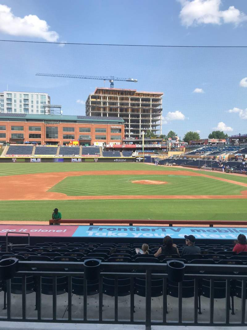 Seating view for Durham Bulls Athletic Park Section 207 Row M Seat 17