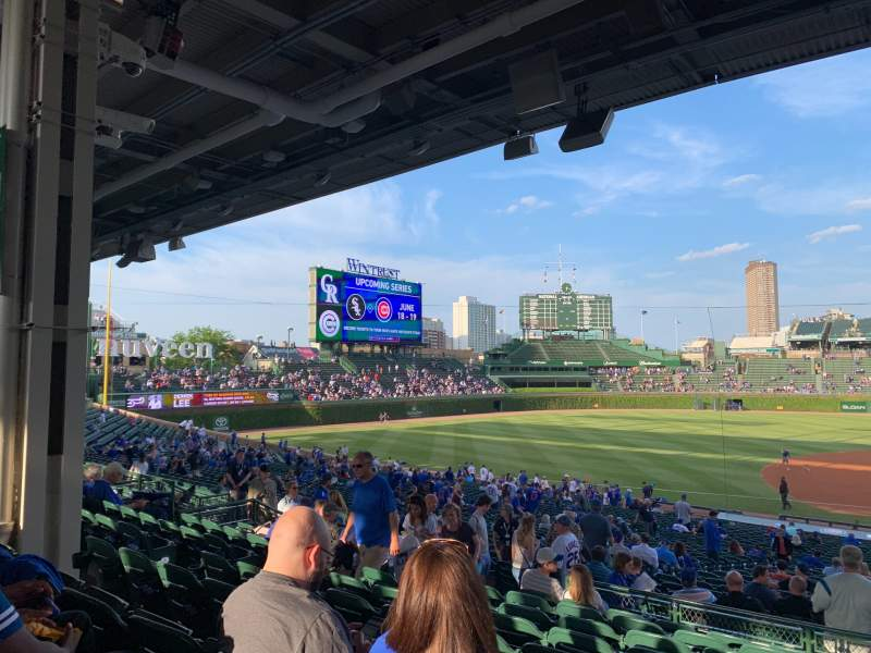 Seating view for Wrigley Field Section 210 Row 9 Seat 11