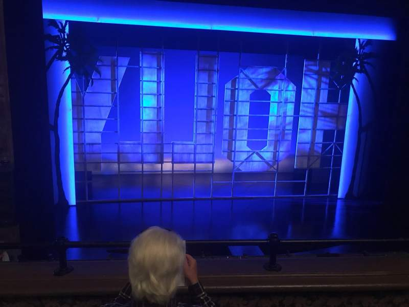 Seating view for Nederlander Theatre Section Mezzanine C Row C Seat 115