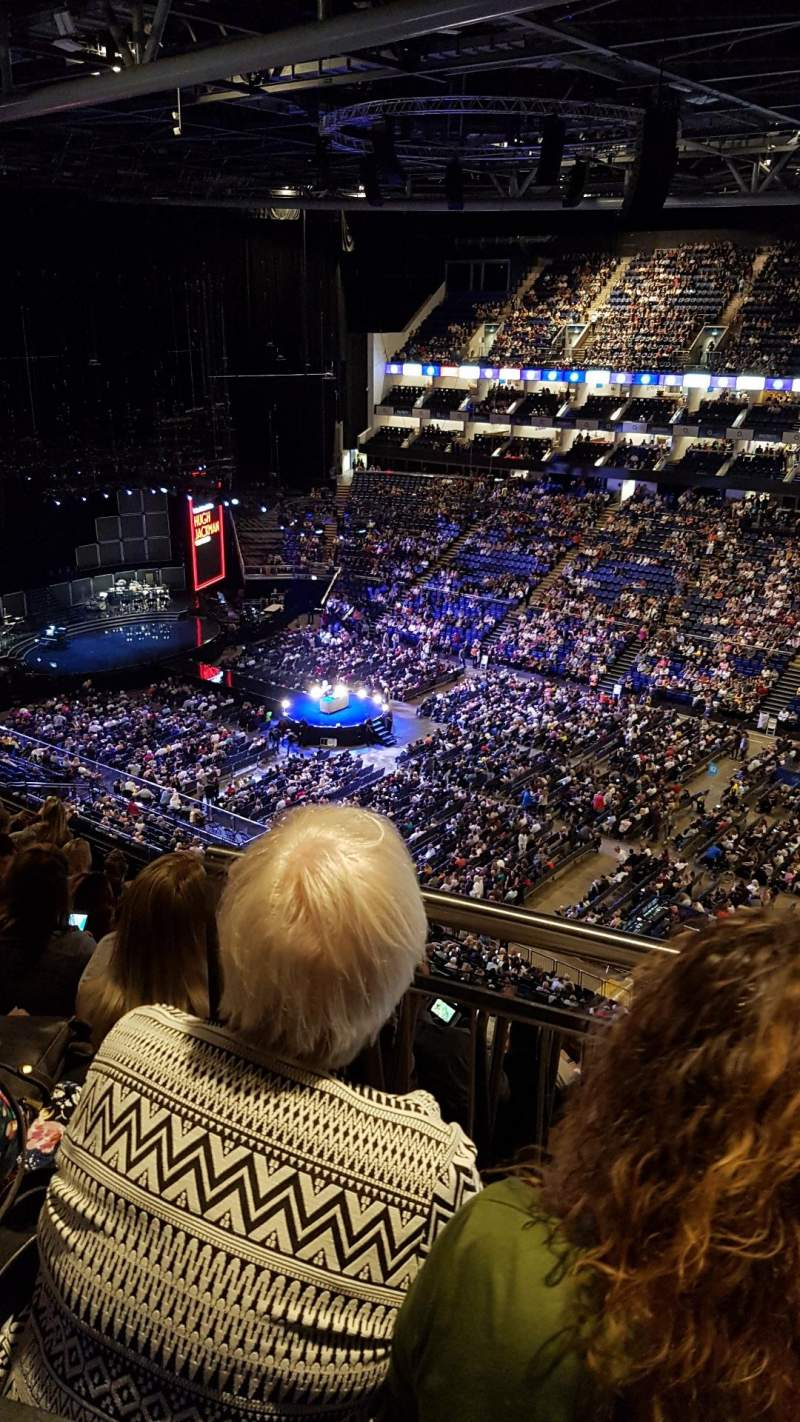 Seating view for The O2 Arena Section 406 Row J Seat 580