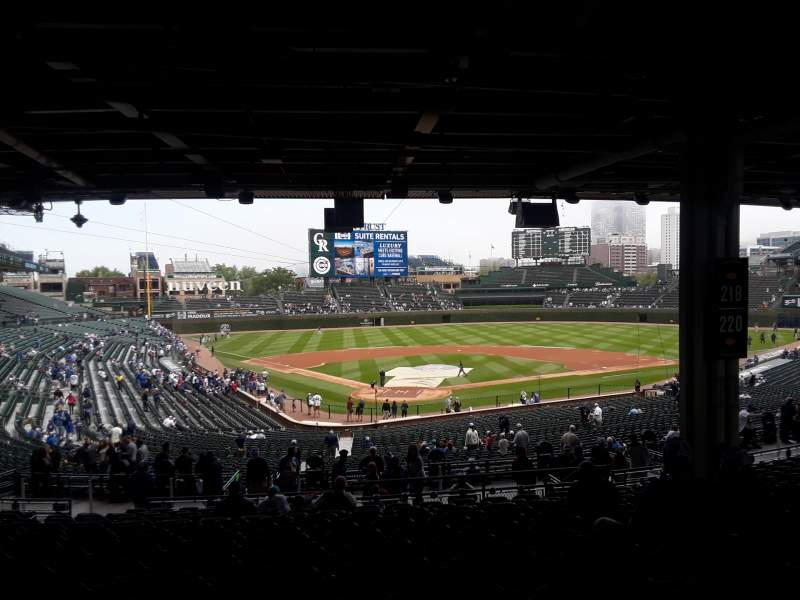 Seating view for Wrigley Field Section 218 Row 16 Seat 14